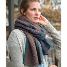 The Fibre Company + Kelbourne Woolens Basalt Wrap and Scarf PDF at WEBS | Yarn.com