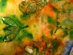 Watercolor Leaf Prints: Groove is in the Art