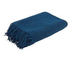 Colcha de algodón, azul Charlène - 180x260 cm