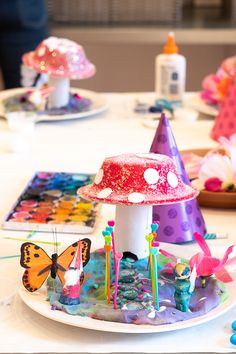 A Fairy & Gnome Celebration for Birthday Songs, Birthday Wishes, Girl Birthday, Kids Fairy Garden, Fairy Gardens, Modeling Dough, Alpaca My Bags, Art For Kids, Kid Art