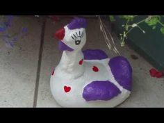 Beton gießen - DIY - Anleitung - Verrückte Hühner mit langem Hals aus Damenstrumpf - YouTube