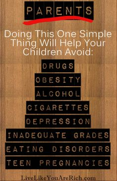 This one simple thing will help your children avoid destructive behaviors and will bring your family closer together