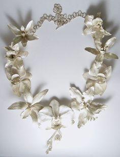 Orchid neckpiece 2010 Sterling silver