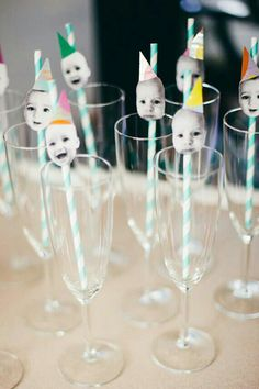 Baby Face Straws for an Adult s Milestone Birthday Party - print and cut out the honoree s face the key here is finding multiple photos featuring different emotions before tacking them onto pinwheel paper straws with adhesive dots 50th Birthday Party, Boy Birthday, Birthday Ideas, Birthday Gifts, Birthday Sayings, Birthday Images, Birthday Greetings, Birthday Wishes, Kid Decor