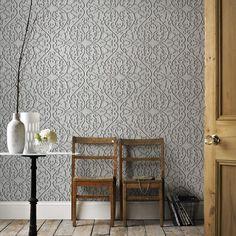 32-757 Marcel Wanders Heart and Tulip Birch Damask 3D Grey Feature Wallpaper in Home, Furniture & DIY, DIY Materials, Wallpaper | eBay