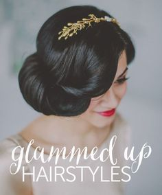 Glammed Up Hairstyles For Your Wedding Day