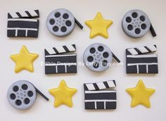 Ordered these and love them! Letty is amazing with fondant! 12 Edible Fondant Movie Themed Cupcake by EdibleDesignsByLetty, $25.00