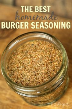 Kick up the flavor of your burgers with this easy homemade Burger Seasoning Blend recipe. How To Cook Quinoa, Scrubs, Salt, Cereal, Sugar, Breakfast, Cooking, Food, Baking Center