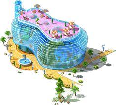 Ocean Aquarium, Cg, News Games, Buildings, Technology, Future, Architecture, Digital, Model
