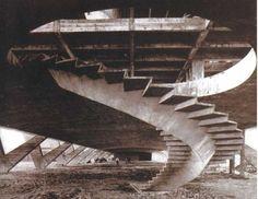 staircase to the Museu de Arte Moderna (1953) by Affonso Eduardo Reidy, Rio de Janeiro, Brazil