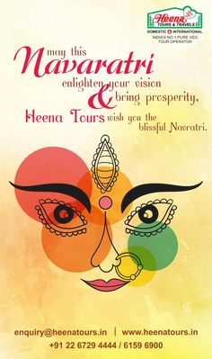 Heena Tours Wishes Happy Navratri..!! May this Navaratri enlighten your vision and bring prosperity, Heena tours wish you the blissful Navratri..!!