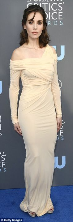 Flattering! The 35-year-old LA native stunned in her nude Roberto Cavalli floor-length frock which clung to her enviable curves