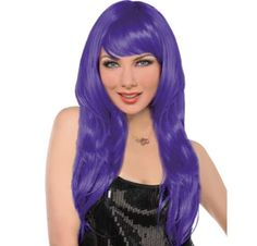 Glam Purple Wig - Futurama Leila // Halloween Couples Costume