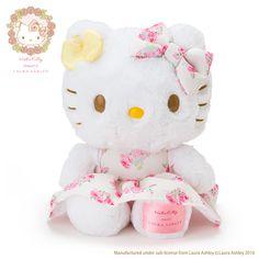ハローキティ ぬいぐるみ(Hello Kitty meets LAURA ASHLEY)