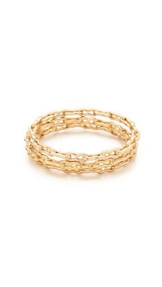 Kelly Wearstler Bent Link Bangle Set | Edgy feminine