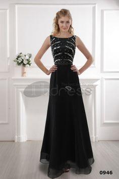 Black dress, evening dresses shoulder black gown