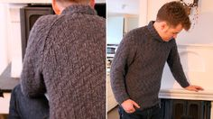 NO buttons, no zips, no color changes, no fancy stitch work.  Yup... this would fit the bill for R!  Dean Sweater pattern from Pickles.