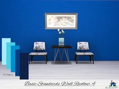Basic Standards Wall in 5 different colours in all 3 Wall heights,  Found in TSR Category 'Sims 4 Walls'