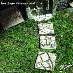 Fairy Garden Stepping Stones Set 18  Set of 4 by HeritageVision