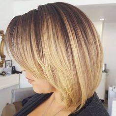 Short Balayage Bob Hair