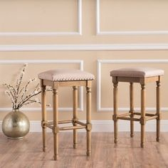 Shop for Osvald Studded Fabric Counter Stool (Set of 2) by Christopher Knight Home. Get free shipping at Overstock.com - Your Online Furniture Outlet Store! Get 5% in rewards with Club O! - 18900417