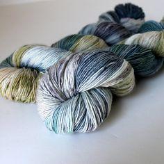 Merino Sock Yarn - Superwash Wool - Fingering Weight Single - 400 yards - Moon Rocks