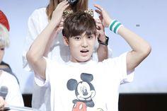 He's so cute #mingyu #seventeen