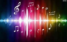 Illustration about Color Spectrum Pulse with Musical Notes Original Illustration. Illustration of bright, purple, sound - 14271886 Musik Wallpaper, Images Wallpaper, Desktop Wallpapers, Heart Wallpaper, Colorful Wallpaper, Wallpaper Backgrounds, I Love Music, Music Is Life, Good Music