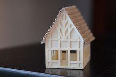 Paper Tudor House Christmas Ornament or Putz House