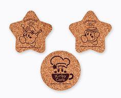 Cork coaster (logo / Kirby / Wadorudi) Kirby Cafe