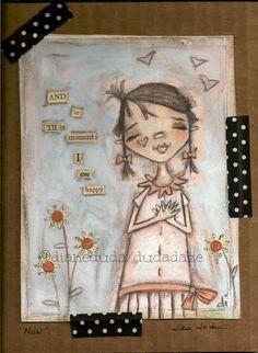 "Cereal Box Art Now  Original Artwork on cardboard ""Now""   Artwork ©dianeduda/dudadaze Words Incubus"