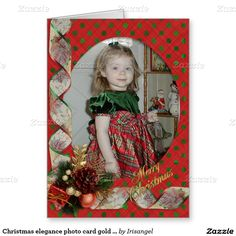Christmas elegance photo card gold & red Victorian