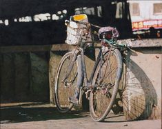 Incredibili dipinti fotorealistici di biciclette dell'artista cinese Pan Xun
