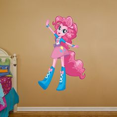 Pinkie Pie - Equestria Girls REAL.BIG. Fathead – Peel & Stick Wall Graphic | My Little Pony Wall Decal | Kids Decor | Bedroom/Playroom/Nursery