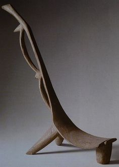 Africa | Chair from the Nuna people of Burkina Faso | ca. 19th/20th century | Wood