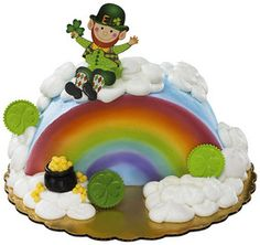 St. Patrick's Day Coin Layon Cake