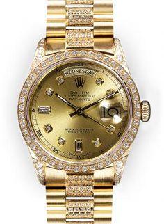8e2e56ee4c4 Champagne Dial Rolex Day Date Super President Rolex Women