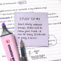 School study tips - taking breaks is really important it doesn't matter how often you take them, just work out what works best for you Also, makes sure that your breaks are not longer than your study ses Study Motivation Quotes, Study Quotes, Motivation For Studying, Homework Motivation, Life Hacks For School, School Study Tips, School Tips, Law School, Exam Study Tips