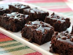 "Fudgy Black Bean Brownies - recipe from Made In Melissa's Kitchen blog...looking forward to trying this ""healthy"" alternative."
