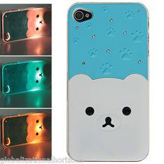 LED Flash Light Rilakkuma Pattern Hard Back Case Cover for iPhone 4 4S | eBay