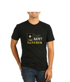 Proud Army Brother tee shirt    Proceeds of all sales go directly to the United States Army to support soldiers serving in the military.