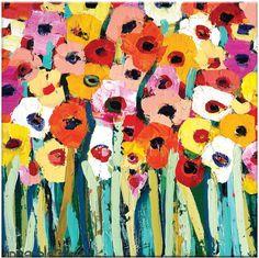 Artist Lane Rainbow Garden by Anna Blatman (Canvas)