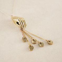 Thieving Hand Necklace | LAB by Laura Busony   www.laurabusony.com