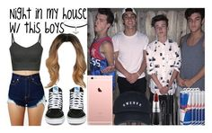 Night in my house w/ Taylor, Crawford and Dolan Twins by luni-salazar on Polyvore featuring polyvore fashion style Vans Topshop MAC Cosmetics Smashbox Marc Jacobs clothing