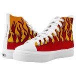 Flames High-Top Sneakers #halloween #happyhalloween #halloweenparty #halloweenmakeup #halloweencostume