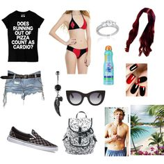 At the Beach with Dean by sleepingxwithxrebels on Polyvore featuring Balmain, Vans, Thierry Lasry and Kiss My Face