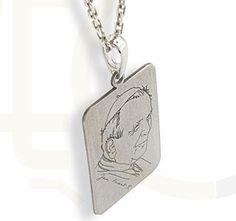 Medalik ze srebra z Świętym Janem Pawełem / Medallion made from silver / 39 PLN #silver #medallion #jewellery #jewelry