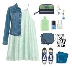 """""""Spring into summer..."""" by gul07 ❤ liked on Polyvore featuring Tommy Hilfiger, Converse, Oribe, Jacki Design, Lancer Dermatology, Tory Burch, Nanette Lepore, NARS Cosmetics and Nails Inc."""