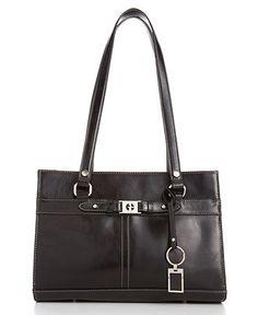 Giani Bernini Handbag, Glazed Triple Entry Satchel - Tote Bags - Handbags & Accessories - Macy's