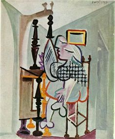 Woman by the dresser - Pablo Picasso